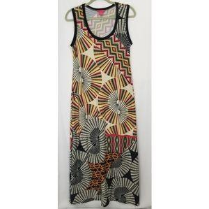 Maxi Dress Sleeveless Sunny Leigh Art Deco